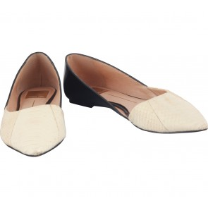 Dolce Vita Cream And Black Flats