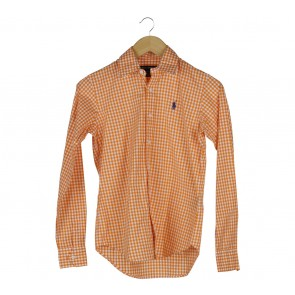 Ralph Lauren Orange And White Shirt