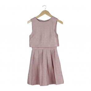 Miss Selfridge Pink Textured Mini Dress