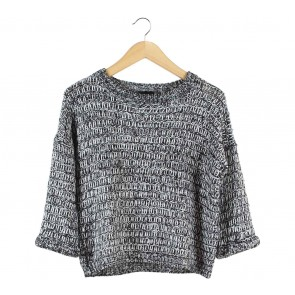 Topshop Black And White Knit Sweater