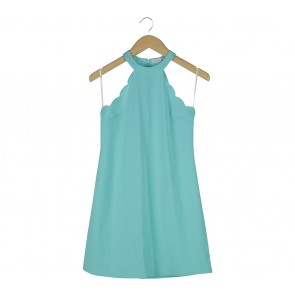 Love, Bonito Turquoise Sleeveless Mini Dress
