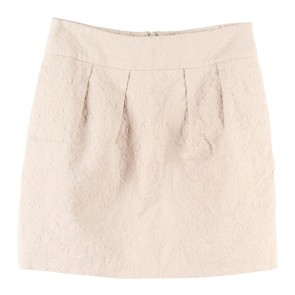 Zara Cream Textured Skirt