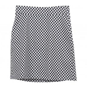 Zara Black And White Checkered Skirt