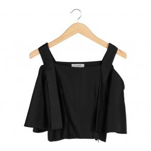 Posie 24 Black Off Shoulder Cropped Blouse