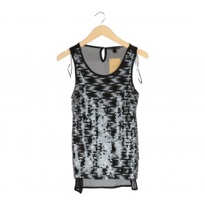 Suite Blanco Black Sequined Sleeveless