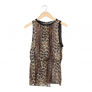 Zara Brown Leopard Sleeveless