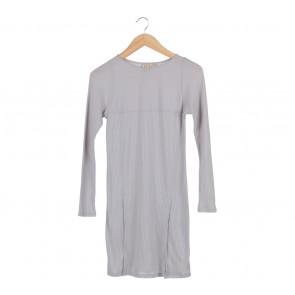 UNIQLO Grey Long Sleeve Mini Dress