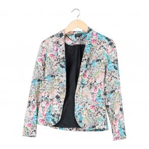 Topshop Multi Colour Floral Blazer
