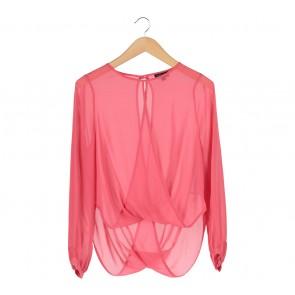 Topshop Pink Blouse