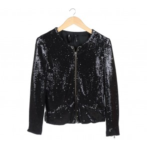 Mango Black Sequin Jacket