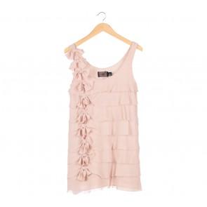 H&M Cream Ruffle Mini Dress