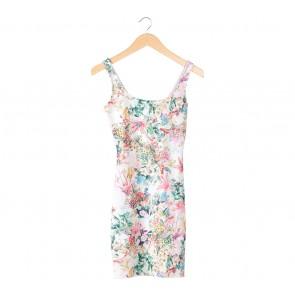 Pull & Bear Multi Colour Floral Sleeveless Mini Dress