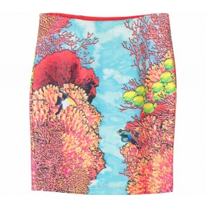 Bebe Multi Colour Patterned Skirt
