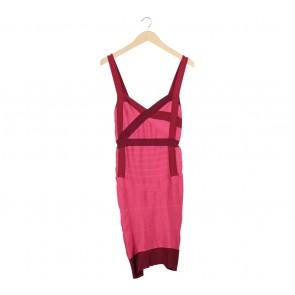 Multi Colour Sleeveless Midi Dress