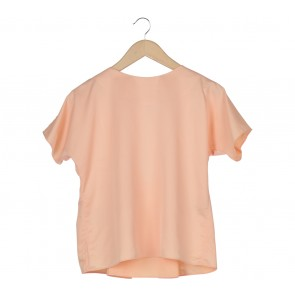 Shop At Velvet Peach Cut Out Blouse
