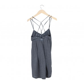 Roxy Grey And Black Striped Mini Dress