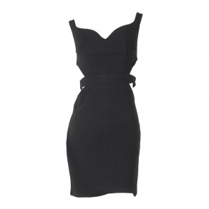 Chocochips Black Cut Out Mini Dress