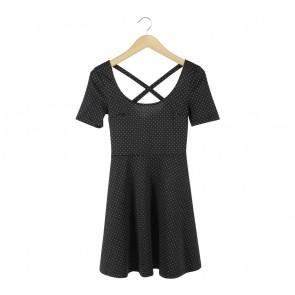 H&M Black Polka Dot Mini Dress