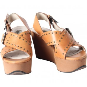 Clarks Orange Wedges