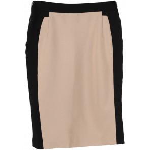 Mango Cream And Black Skirt