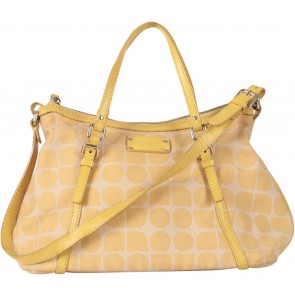 Kate Spade Yellow Patterned Satchel