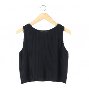 Shop At Velvet Black Pleated Sleeveless