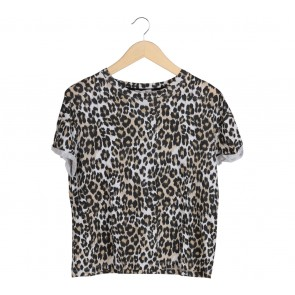 Zara Brown Leopard T-Shirt