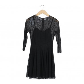 Armani Exchange Black Mini Dress