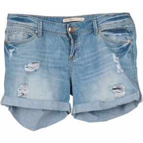 Stradivarius Blue Ripped Short Pants