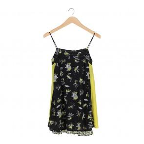 Zara Black And Yellow Bird Blouse