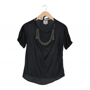 Ciel Black Necklace Blouse