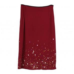 Karen Millen Maroon Beaded Skirt