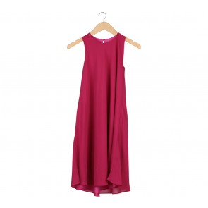 Shop At Velvet Pink Midi Dress