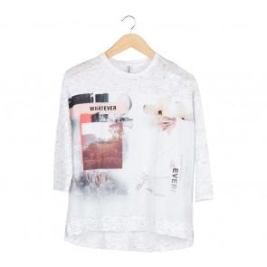 Stradivarius White T-Shirt