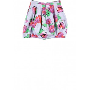 Topshop Purple And Multi Colour Patterned Skirt