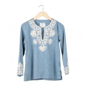Zara Blue Denim Blouse