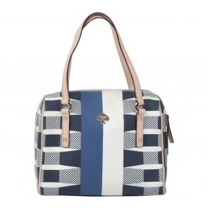 Kate Spade Off White And Dark Blue Handbag