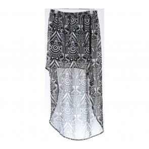 H&M Black And White Asymetric Skirt