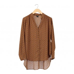 H&M Brown Asymetric Blouse