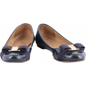 Salvatore Ferragamo Dark Blue Flats