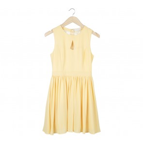 Love, Bonito Yellow Lace Insert Mini Dress