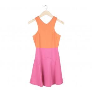theclosetlover Orange And Pink Mini Dress