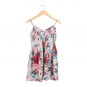 Valley Girl Multi Colour Floral Mini Dress
