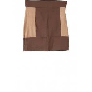 Divided Brown And Light Brown Skirt