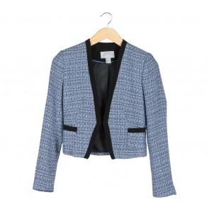 H&M Blue Black Trim Blazer