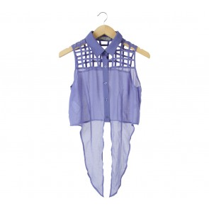 S.Y.L.K Purple See Thru Sleeveless