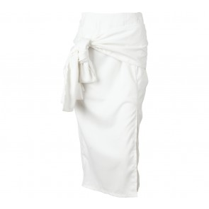 Status Quo Off White Slit Skirt