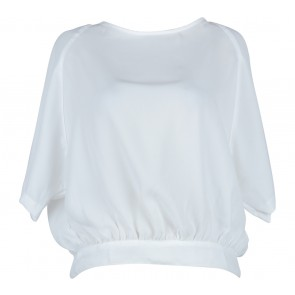 Status Quo White Back Cut Out Blouse