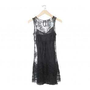 Warehouse Black Lace Mini Dress