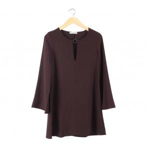 Mango Dark Purple Mini Dress